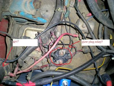 bypassing the glow plug controller 6 9l ihc diesel truck ford voltage regulator wiring #9